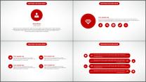 大气美观红色企业公司工作总结PPT模板三示例4
