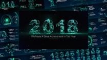 2018大气星空科技感模板2