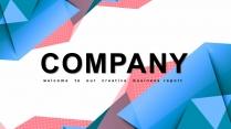【创意几何】时尚工作汇报商务提案模板