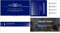 【分条析理C】蓝色科技极简大气商务条纹工作总结汇报示例3