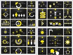 2014年简约大气商务报告信息化图表(50套)首部示例2
