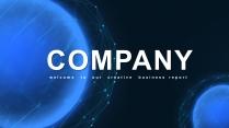【創意星空】簡約商務匯報工作總結模板