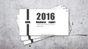 【008】 黑白杂志简约大气图文混排多用商务模板