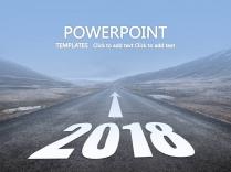 【2018,在路上】商务ppt模板2