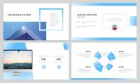 【簡約商務】淡藍商務風干凈簡潔工作匯報PPT模板示例4