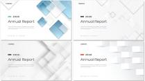 简约创意几何总结报告工作计划商务策划模板【含四套】