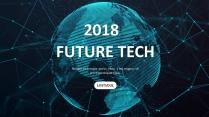 未来科技高品质总结报告商务汇报工作计划模板