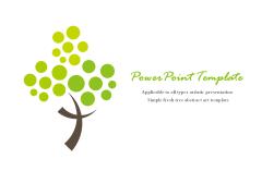 简约清新小树抽象艺术PPT模板