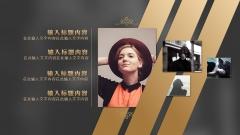 【轻奢极简】时尚欧美扁平化大气黑色金色模板示例7