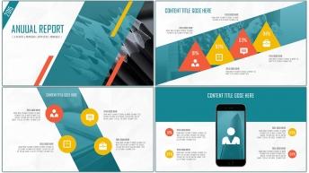 大氣創意現代商務匯報總結PPT模板