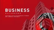 【商务】红白简约大气商务网页风PPT模板