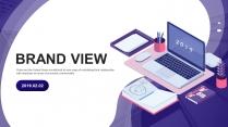 【商务中国】创意插画科技互联网公司企业工作PPT示例2