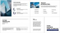 【分条析理C】蓝色科技极简大气商务条纹工作总结汇报示例6