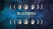 【动态】2017月球变化蓝黑创意抽象通用ppt模板