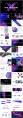 X几何元素 蓝紫渐变风 市场创意提案ppt模板示例8