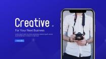 Creative 创意蓝质感项目发布汇报模板(一)