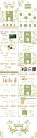 【小清新系列2】绿色极简小清新唯美花草ppt模板示例7
