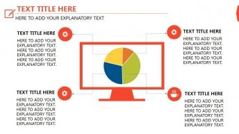 红色 高端商务 配色明快 年终总结扁平化模板示例6