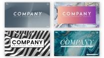 【色度】创意时尚抽象设计ppt模板(4套合集)