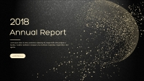 金色年终总结商务报告工作计划项目策划模板系列十示例2