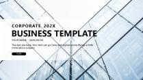 【文山书海C】极简高端大气蓝色商务工作总结项目报告