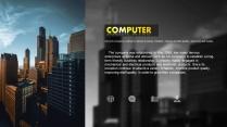 【炫彩城市】蓝橙色系都市时尚商务模板示例7