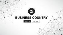 大氣極簡點線創意商務模板第二十二彈