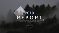 【白色冬季】唯美自然风格报告策划计划模板示例2