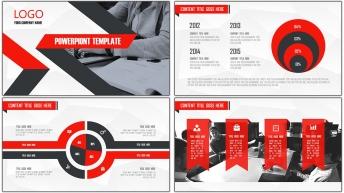 大气黑红创意现代商务总结汇报通用PPT模板