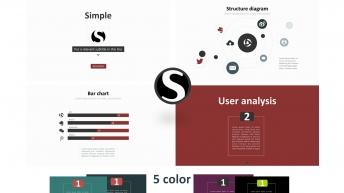 通用商务汇报模板2_5套配色优雅简约_Simple