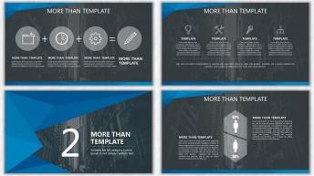 欧美杂志排版简洁高端实用PPT模板23示例4