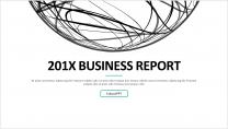 【创意点线-40】大气简约通用工作总结商务报告模板
