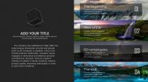 【自然山峰】大气风景夜景深色商务计划年终策划模版示例5