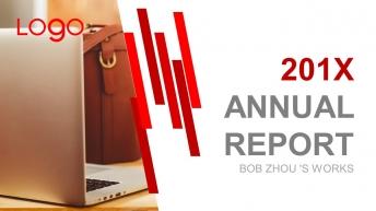 红色简约实用年度总结汇报PPT模板-4
