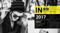 【拒绝平凡-in会馆】黄黑风格高端商业计划书模板