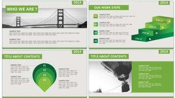 清新綠色2014年終總結匯報通用模板