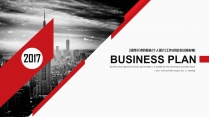 【双配色】高级杂志风企业公司商务工作汇报PPT模板