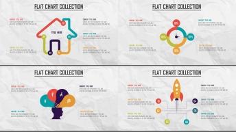 创意多色炫彩扁平可视化商业图表合25套【第六期】