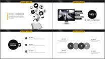 黄黑极简杂志风年终工作总结PPT模板示例6