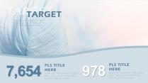 【高颜值蓝羽】 简约欧美风商务项目汇报书PPT模板示例7
