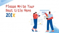 【-歐美插畫風-】極簡紅藍配色數據分析報告模板
