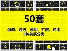 2014年简约大气商务报告信息化图表(50套)首部示例1