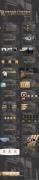 【轻奢极简】时尚欧美扁平化大气黑色金色模板示例8