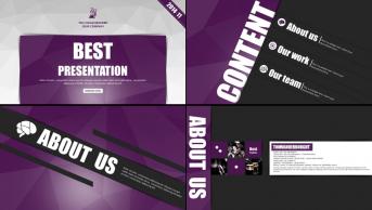 【创意·极致】超大气黑紫配fashion杂志范模板