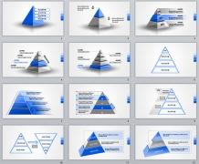 金字塔12套-PPTSTORE高端商务图表系列