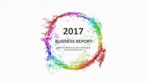 多彩年終總結商務報告工作計劃模板