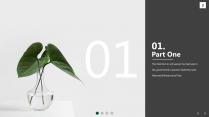 【风格】清凉一夏——绿植小清晰通用商务模板示例3