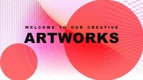 【抽象艺术】高品质总结报告商务汇报可视化模板4