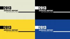 2013欧美风商务汇报总结PPT模板+4种配色方案