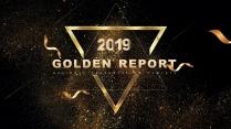 金色年终总结商务报告工作计划项目策划模板系列二十八